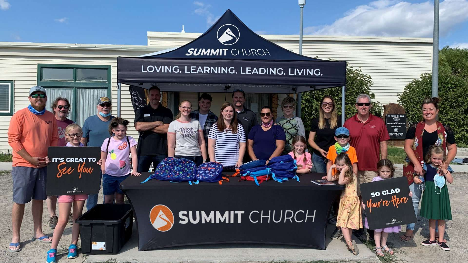 Summit Church community backpack giveaway in Missoula MT